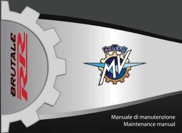 Brutale_RR_MY11 Manual Mantenimiento ... - MV Agusta