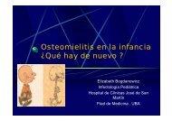 Osteomielitis en la infancia ¿Qué hay de nuevo ?