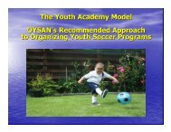 The Youth Academy Model OYSAN's Recommended Approach to ...