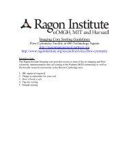 Sorting Guidelines - Ragon Institute