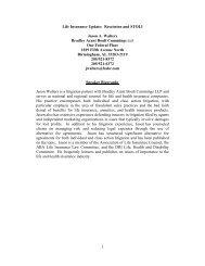 Rescission and STOLI - Bradley Arant Boult Cummings LLP