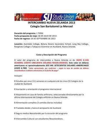 1.informacion general programa - intercambio nueva ... - Colegio
