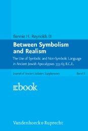 Between Symbolism and Realism - Vandenhoeck & Ruprecht