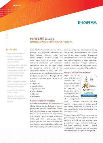 Ingres CAFÉ Version 0.6 - Actian