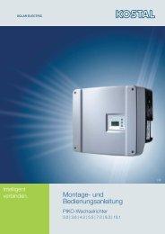 Kostal Piko 3.0, 4.2, 5.5, 7.0, 8.3, 10.1 ... - AS Solar GmbH