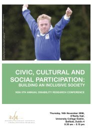 CIVIC, CULTURAL AND SOCIAL PARTICIPATION: - The National ...