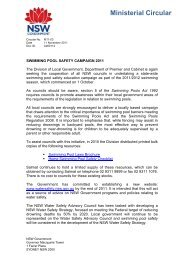 Swimming Pool Safety Campaign 2011 - Division of Local ...