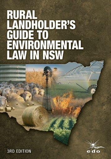 Rural Landholders' Guide to Environmental Law in NSW - Australian ...