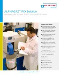 ALPHAGAZ™ FID Solution - Air Liquide America Specialty Gases