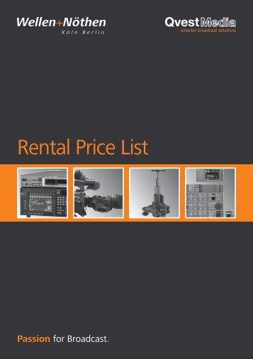 Rental Price List - Wellen+Nöthen