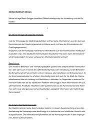 Kleine Anfrage Martin Brügger betreffend ... - Brugg