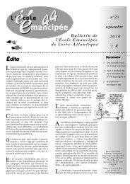 Bulletin EE 44 - L'École Émancipée