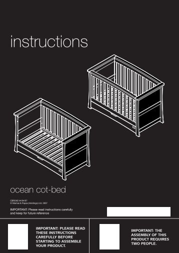 mamas and papas eloise cot bed instructions pdf