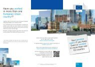 Have you worked in more than one European Union country - Europa