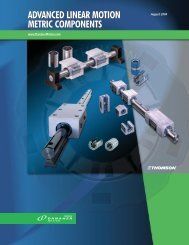 Advanced Linear Motion Metric Components - Thomson