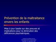 Prévention de la maltraitance envers les enfants : Mise à jour basée ...