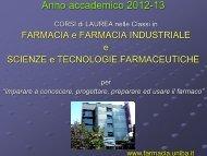 chimica e tecnologia farmaceutiche - Farmacia