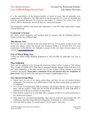 Section 6- AFPD Fire alarm systems City of - Arvada Fire Protection ...