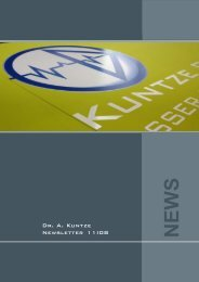 Newsletter 11-08_eng.pmd - Dr. A. Kuntze GmbH