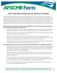 The Truth About Public Service Workers' Pensions - AFSCME