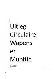 Uitleg Circulaire Wapens Munitie - Schietsportvereniging A-Team