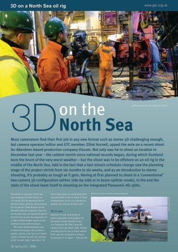 3D on a North Sea oil rig - Viscom