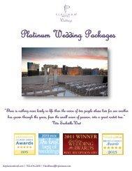 Wedding Packages & Menus - Platinum Hotel