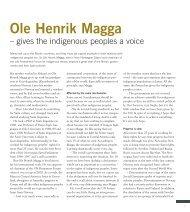 Ole Henrik Magga - Department of Scandinavian Studies
