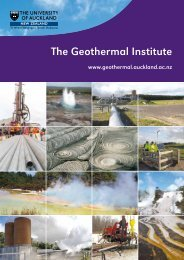 The Geothermal Institute brochure - UniServices