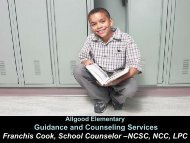 Why Elementary School Counselors? - DeKalb County Schools