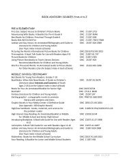 Sdk 9/11 BOOK ADVISORY SOURCES from A to Z PRE-K ...