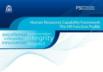 Human Resources Function Profile - Public Sector Commission