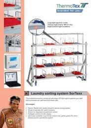 Laundry sorting system SorTexx - ThermoTex