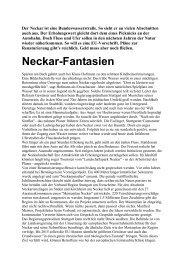 Neckar-Fantasien - Uwe Roth