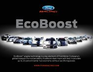 EcoBoost™ engine technology is a key element ... - Ford Racing Parts
