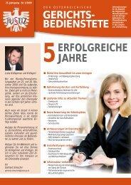 Ausgabe November 2009 - ZA Justiz