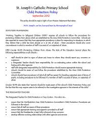 Child Protection Policy - St. Joseph's Catholic Primary School