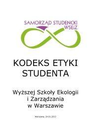 Kodeks etyki studenta WSEiZ