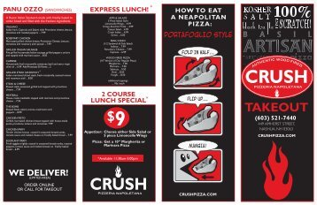 Download Takeout Menu - Crush Pizza