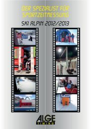 Ski Alpin - Alge-Timing