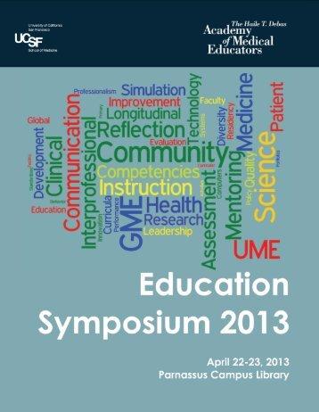 2013 - UCSF School of Medicine - University of California, San ...