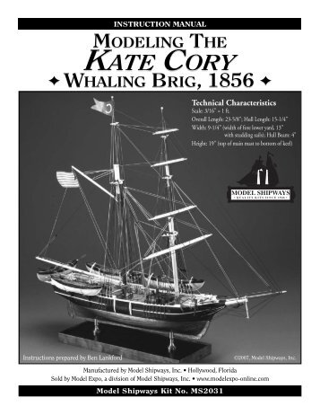 Kate Cory Instruction book