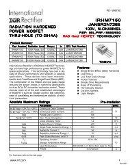 radiation hardened power mosfet thru-hole (to-254aa) irhm7150 ...