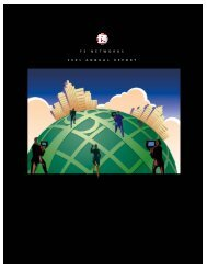 FY2001 Annual Report - F5 Networks
