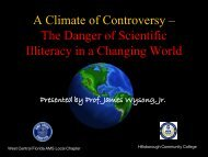 October 2010 - A Climate of Controversy - USF Weather Center