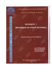 Polycopié cours de mécanique (Phys1).