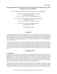 2116, Page 1 Energy Optimization for Transcritical CO2 Heat Pump ...