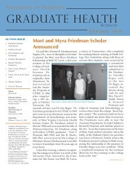 1 CGHS Spr 06.indd - The University of Tennessee Health Science ...