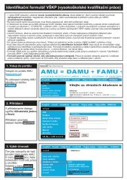Identifikační formulář VŠKP (vysokoškolské kvalifikační práce) - FAMU