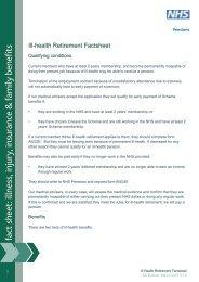 Ill Health Retirement Factsheet